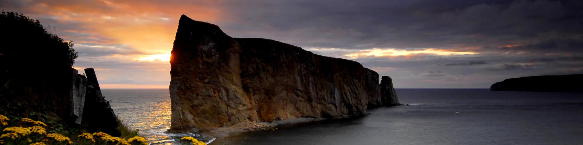 Paysage, rocher Percé