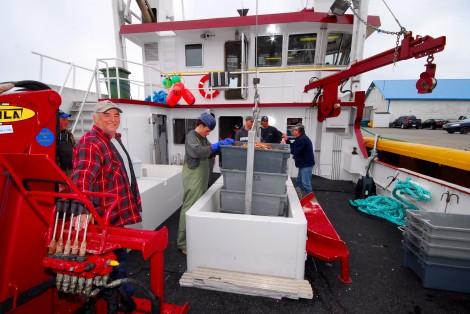 Fishing boat, fishermen