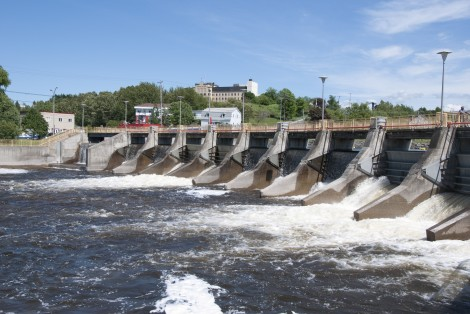 Matane River's dam