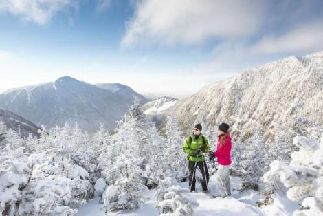 Raquette en montagne, hiver