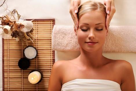 Woman, relaxation, massage