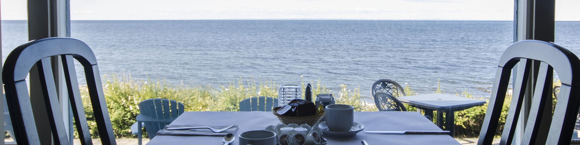 Le Côté Mer restaurant, Riôtel Bonaventure, sea view