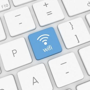 Computer keyboard, Wi-Fi button