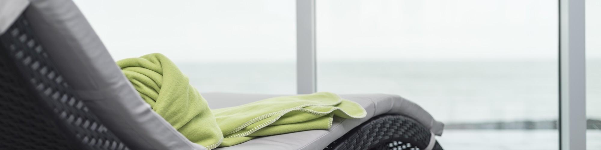 Chaise de détente, vue sur la mer