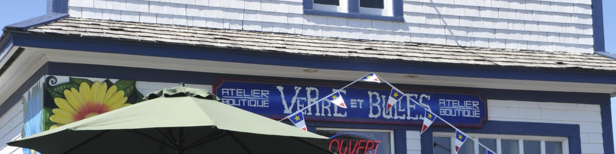 Atelier, Boutique, Verre à bulles, Gaspésie