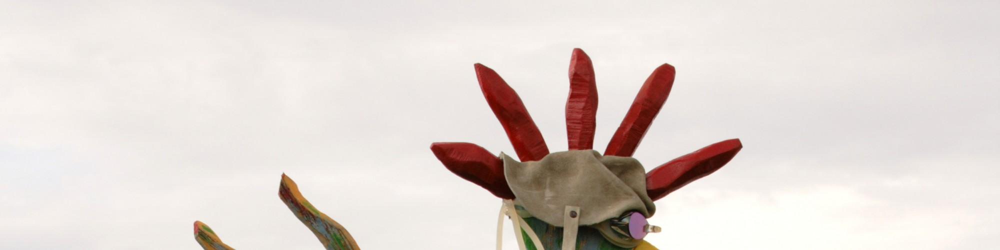 Sculpture, festival art populaire, St-Ulric