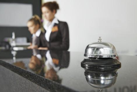 Hotel reception, bell